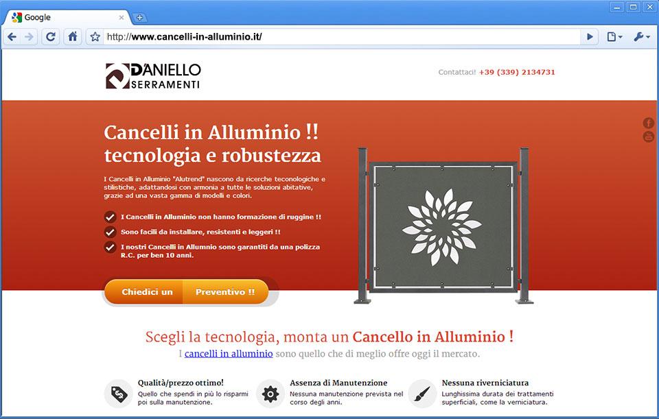 Cancelli in alluminio